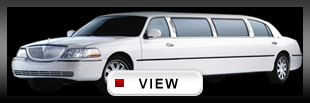 white town car stretch limo LA