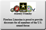 flawless limo la provieds discounts to all members of the us armed forces