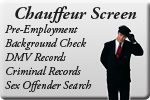 our chauffeurs are all background checked before employment