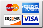 We accept all major credit cards - master card - american express - discover - visa